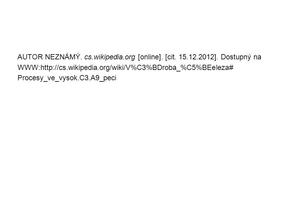 AUTOR NEZNÁMÝ. cs. wikipedia. org [online]. [cit. 15. 12. 2012]